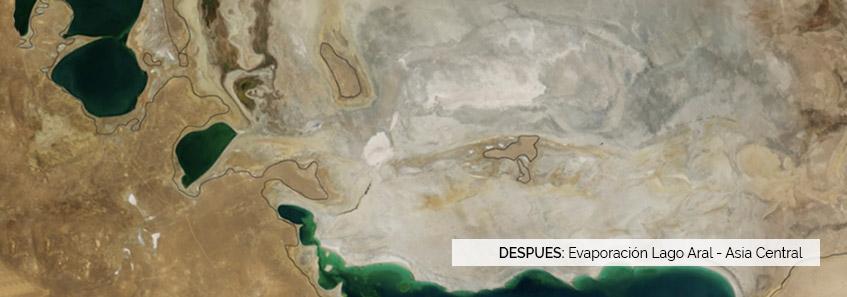 Evaporación Lago Aral, Asia - Selper