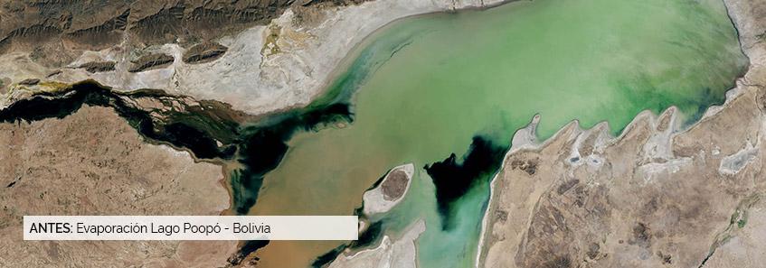 Evaporación Lago Poopó - Bolivia - Selper
