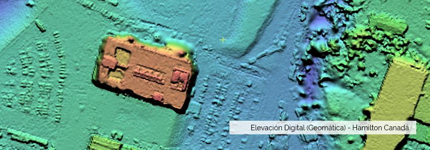 Geomática - Elevación Digital - Hamilton, Canadá - Selper