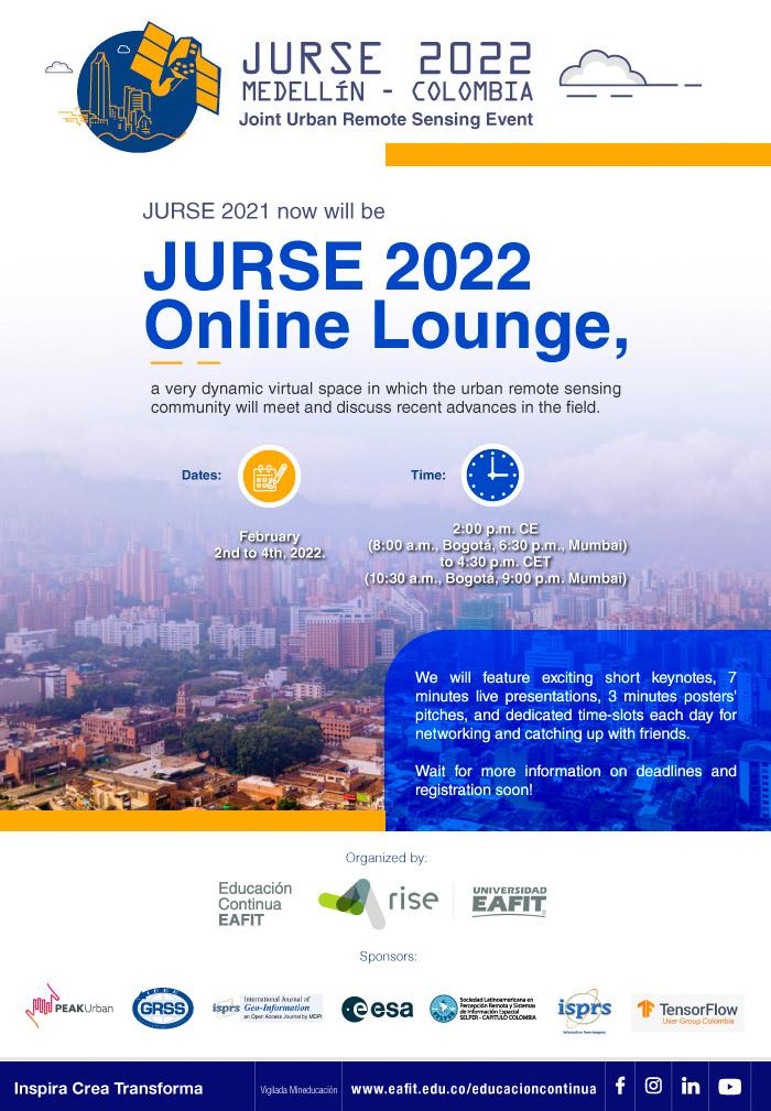 Joint Urban Remote Sensing Event - JURSE 2021 Medellin - Colombia Febrero 1 - 4 / 2022